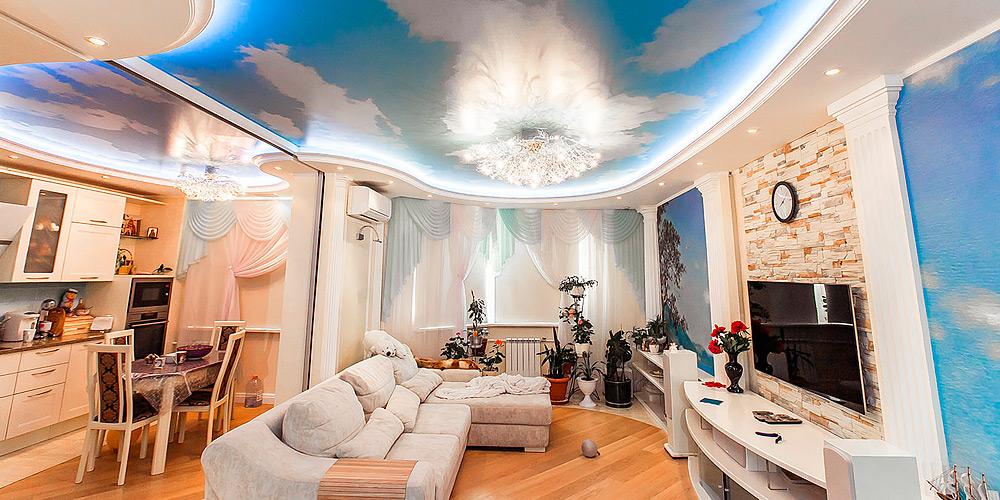 Монтаж натяжных потолков в Ярославле