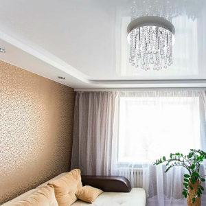 Двухуровневый натяжной потолок в Ярославле