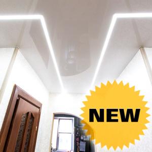 Натяжной потолок с линейной светодиодной подсветкой